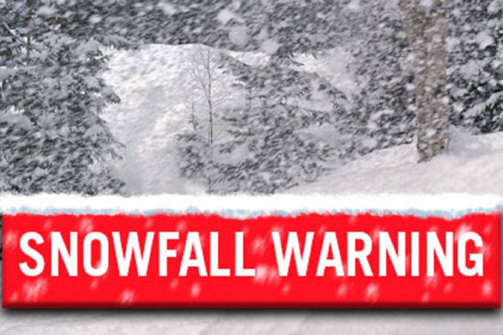 A snowfall warning has been issued for Williams Lake and Quesnel. (Black Press Media)