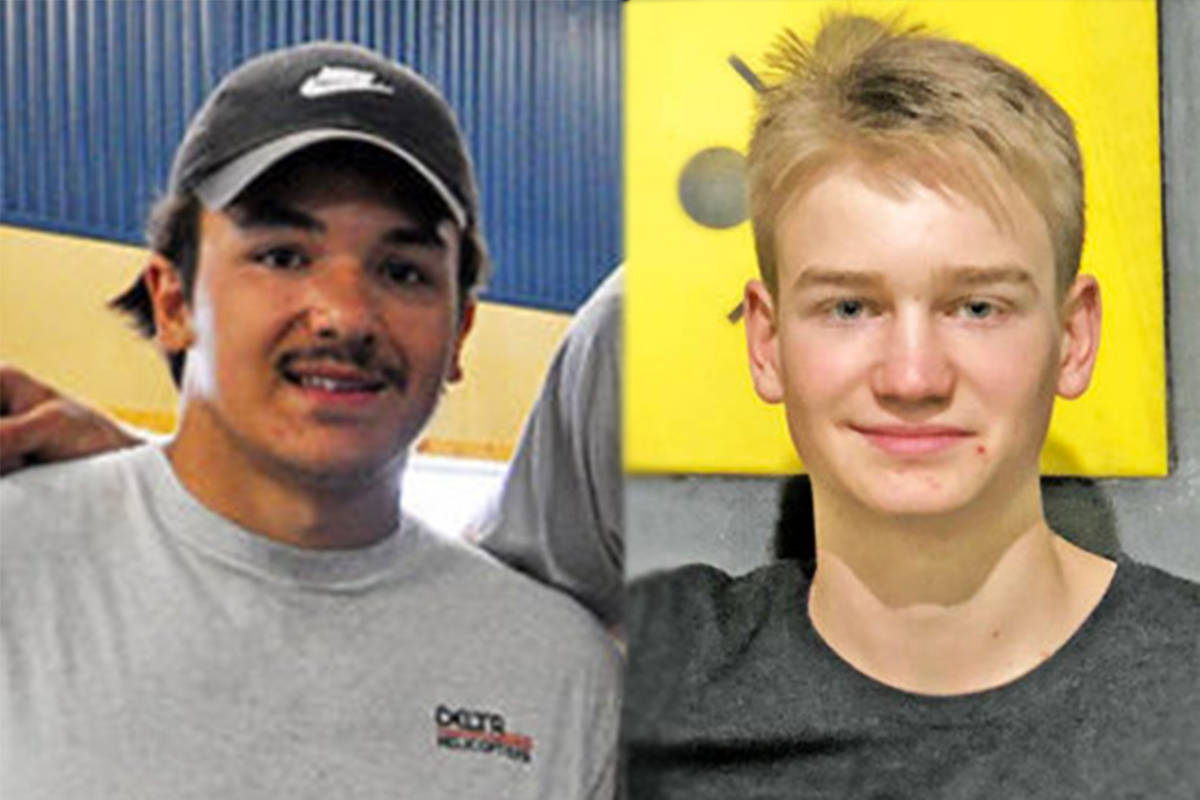 Williams Lake's Daine Dubois (left) and 150 Mile House's Isaac Bedford have been named as recipients of the 2020 Premier's Award for Indigenous Youth Excellence in Sport. (Tribune file photos)